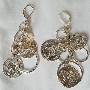 Vintage french coin lever back earrings